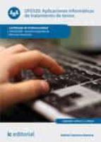aplicaciones informáticas de tratamiento de textos. adgd0208 (ebook) gabriel carmona romera 9788417224257