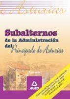 SUBALTERNOS DE LA ADMINISTRACION DEL PRINCIPADO DE ASTURIAS. TEMA RIO