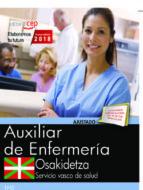 oposiciones osakidetza. servicio vasco de salud auxiliar de enfermería 9788468190457