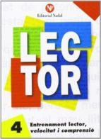 entrenament lector, velocitat i comprensió nº 4 lletra manuscrita-9788486545857