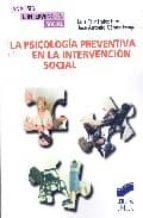 la psicologia preventiva en la intervencion social luis fernandez rios luis fernandez rios jose antonio gomez fraguela 9788497564557