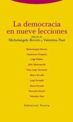 la democracia en nueve lecciones michelangelo bovero valentina paze 9788498795257