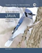 El libro de Objects first with java: a practical introduction using bluej autor DAVID J. WARNES TXT!