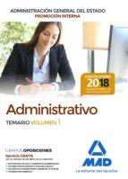 administrativo de la administracion general del estado (promocion interna): temario (vol. 1)-9788414215067