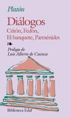 dialogos ; criton ; fedon ; el banquete ; parmenides (4ª ed.)-9788471666567