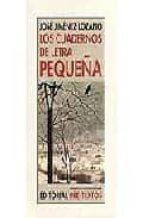 los cuadernos de letra pequeña-jose jimenez lozano-9788481915167