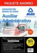 paquete auxiliar administrativo del estado. (temarios 1 y 2, test, simulacros examen prueba informática, psicotécnicos,-9788490938867
