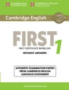 cambridge english first 1 for revised exam from 2015 student s book without answers 9781107668577