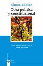 obra politica y constitucional-simon bolivar-9788430945177