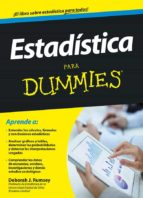 estadística para dummies deborah j. rumsey 9788432901577