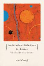 mathematical techniques in finance (ebook)-ales cerný-9781400831487
