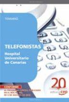 TELEFONISTAS HOSPITAL UNIVERSITARIO DE CANARIAS. TEMARIO