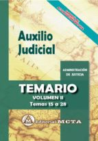 auxilio judicial (vol. ii): temario-jose luis ramos cejudo-manuel segura ruiz-9788482194387