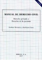 manual de derecho civil : derecho privado y de la persona rodrigo bercovitz rodriguez cano 9788489118287