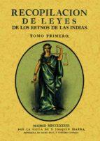 recopilacion de leyes de los reynos de las indias (3 tomos) (ed. facsimil de la obra de 1791) 9788490013687
