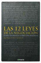 las 12 leyes de la negociacion-alfred font barrot-9788415431497