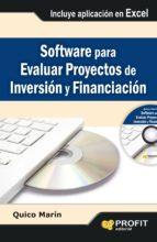 software para evaluar proyectos de inversión y financiación (ebook)-quico marin-9788415735397