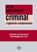 ley de enjuiciamiento criminal (11ª ed) v. moreno catena j. a. colmenero guerra 9788430953097