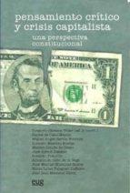 pensamiento critico y crisis capitalista: una perspectiva constit ucional 9788433850997