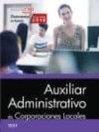 AUXILIAR ADMINISTRATIVO DE CORPORACIONES LOCALES. TEST