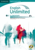 english unlimited elementary self study pack (workbook with dvd a nd audio cd) spanish ed. 9788483239797