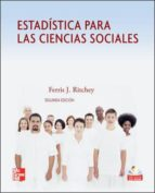 estadistica para las ciencias sociales ferris j. ritchey 9789701066997