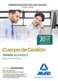 CUERPO DE GESTION DE LA ADMINISTRACION CIVIL DEL ESTADO (TURNO LIBRE). TEMARIO (VOL. 2) - 9788414214817 - VV.AA.