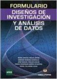 FORMULARIO DE DISEÑOS DE INVESTIGACIÓN Y ANALISIS DE DATOS - 9788415550617 - VV.AA.