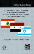 Libros electrónicos gratis para descargar en Android EL TRIÁNGULO RELACIONAL LÍBANO-SIRIA-ISRAEL EN LA GEOPOLÍTICA REGIONAL DEL MEDO ORIENTE de MARÍA LOURDES SIERRA DE KOBEH