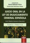 JUICIO ORAL EN LA LEY DE ENJUICIAMIENTO CRIMINAL ESPAÑOLA - 9789897124327 - DAVID VALLESPIN PEREZ