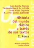 HISTORIA DEL MUNDO CLASICO A TRAVES DE SUS TEXTOS, 2: ROMA - 9788420686837 - LUIS GARCIA MONTERO
