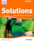 SOLUTIONS UPPER INTERMEDIATE STUDENT S BOOK (2ND ED.) - 9788467382037 - VV.AA.