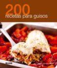 200 RECETAS PARA GUISOS - 9788480769037 - VV.AA.