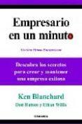 EMPRESARIO EN UN MINUTO - 9788483581537 - KEN BLANCHARD