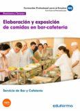MF1049 ELABORACION Y EXPOSICION DE COMIDAS EN BAR-CAFETERIA. CERTIFICADO DE PROFESIONALIDAD SERVICIOS DE BAR Y CAFETERIA.     FAMILIA PROFESIONAL HOSTELERIA Y TURISMO - 9788467675047 - VV.AA.
