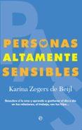 PERSONAS ALTAMENTE SENSIBLES - 9788491643647 - KARINA ZEGERS DE BEIJL