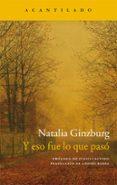 Y ESO FUE LO QUE PASÓ - 9788416011957 - NATALIA GINZBURG