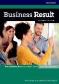 BUSINESS RESULT PRE-INTERMEDIATE STUDENT S BOOK WITH ONLINE - 9780194738767 - VV.AA.