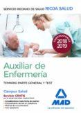 AUXILIAR DE ENFERMERIA DEL SERVICIO RIOJANO DE SALUD: TEMARIO PARTE GENERAL Y TEST - 9788414217467 - VV.AA.
