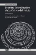 PRIMERA INTRODUCCIÓN DE LA CRÍTICA DEL JUICIO - 9788416020867 - IMMANUEL KANT