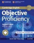 OBJECTIVE PROFICIENCY (2ND ED.): STUDENT S BOOK WITH ANSWERS WITH DOWNLOADABLE SOFTWARE - 9781107646377 - ANNETTE CAPEL