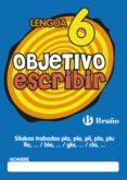 OBJETIVO ESCRIBIR 6 - 9788421665077 - VV.AA.