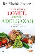 SI TE GUSTA COMER, APRENDE A ADELGAZAR (EBOOK) - 9788427045477 - NICOLAS ROMERO