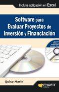 SOFTWARE PARA EVALUAR PROYECTOS DE INVERSIÓN Y FINANCIACIÓN (EBOOK) - 9788415735397 - QUICO MARIN
