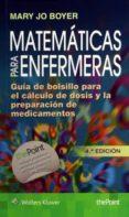 MATEMÁTICAS PARA ENFERMERAS - 9788416353897 - M. J. BOYER