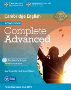 Descargar libros de texto en pdf gratis COMPLETE ADVANCED STUDENT S BOOK WITH ANSWERS WITH CD-ROM 2ND EDITION 9781107670907 (Spanish Edition) FB2 RTF ePub