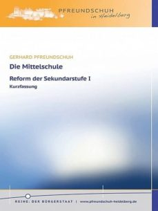 die mittelschule – reform der sekundarstufe i (ebook)-gerhard pfreundschuh-9783944816807