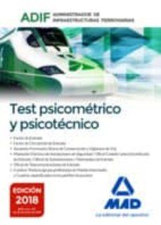 test psicométrico y psicotécnico. administrador de infraestructuras ferroviarias (adif)-9788414219607