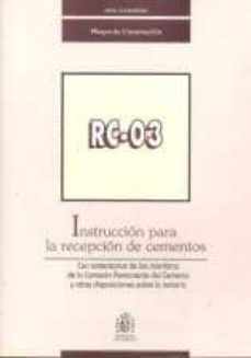 Curiouscongress.es Instruccion Pra La Recepcion De Cementos (Rc-03) Image