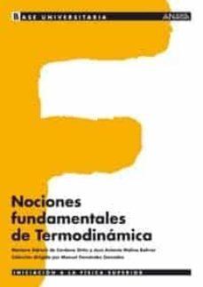 nociones fundamentales de termodinamica-mariano sidrach de cardona ortin-jose antonio molina bolivar-9788466743907